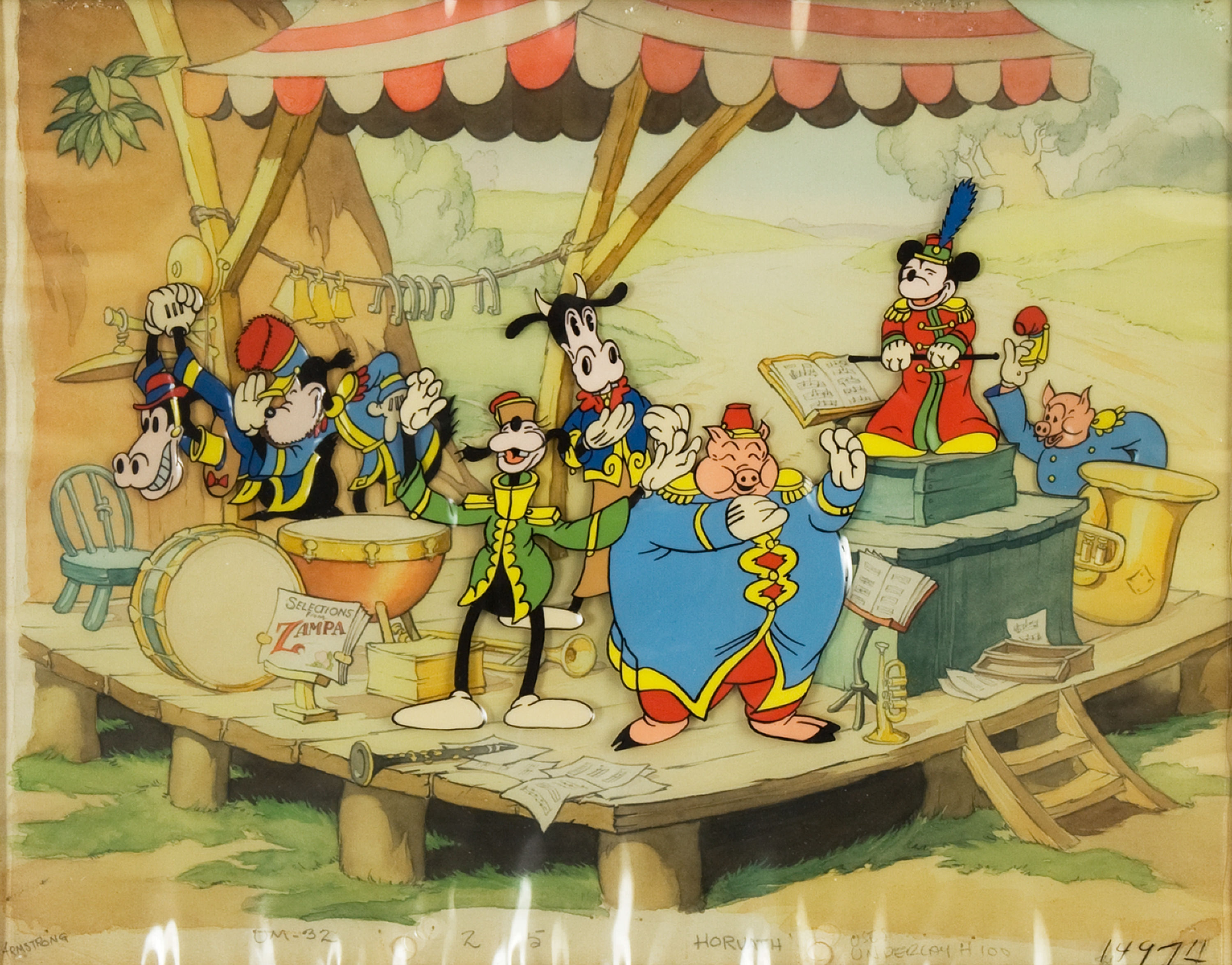 Mickey-Mouse-The-Band-Concert-Production-Cel-1935